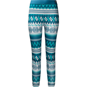 Jack Wolfskin Inuit Tights Girls, dark peony all over
